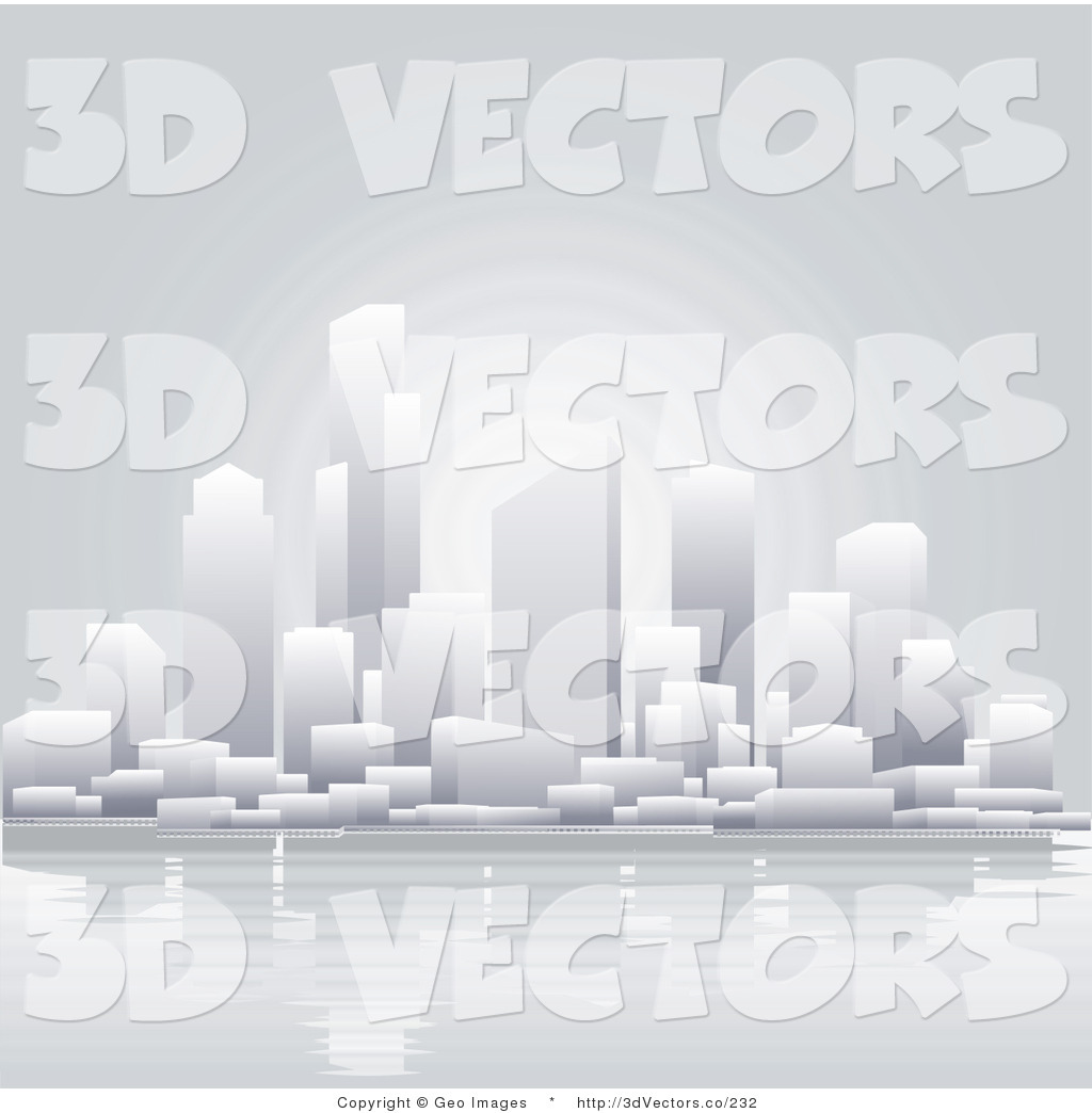 3d Vector Clipart of a Waterfront City by ...