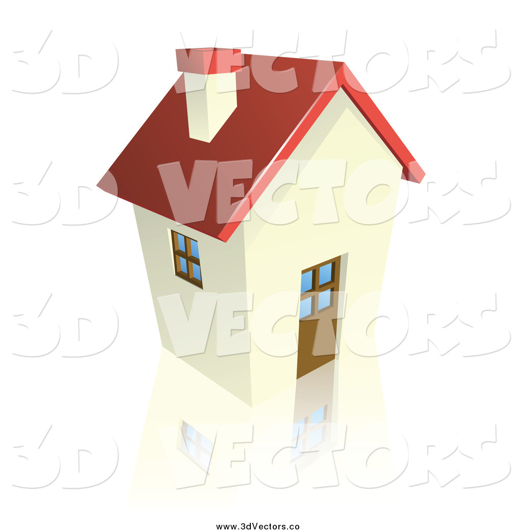 Vector Clipart of a 3d Cottage House by Geo Images - #3672