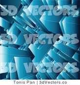 3d Vector Clipart of a Background of Blue Structures by Tonis Pan