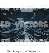 3d Vector Clipart of a Background of City Buildings by AtStockIllustration
