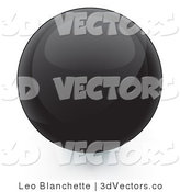 3d Vector Clipart of a Black Orb Internet Button by Leo Blanchette