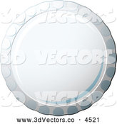 3d Vector Clipart of a Bottle Cap by Michaeltravers