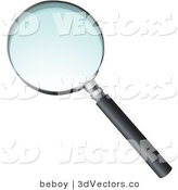 3d Vector Clipart of a Magnifying Glass by Beboy