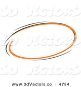 3d Vector Clipart of a Pre-Made Logo of a Circle of Orange and Black on White by Beboy