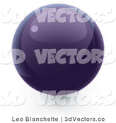 3d Vector Clipart of a Purple Sphere by Leo Blanchette