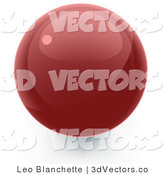 3d Vector Clipart of a Red Sphere Internet Button by Leo Blanchette