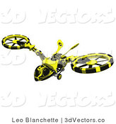 3d Vector Clipart of a Wasp Hovercraft by Leo Blanchette