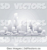 3d Vector Clipart of a Waterfront City by AtStockIllustration