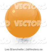 3d Vector Clipart of a Yellow Sphere Internet Button by Leo Blanchette