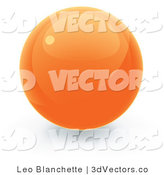 3d Vector Clipart of an Orange Sphere Internet Button by Leo Blanchette