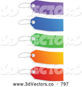 3d Vector Clipart of Blank Colorful Sales Tags by Tonis Pan