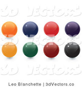 3d Vector Clipart of Colorful Sphere Orbs by Leo Blanchette