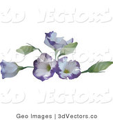 3d Vector Clipart of Purple Flowers by AtStockIllustration