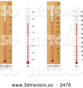 3d Vector Clipart of Thermometers by Vector Tradition SM