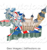 3d Vector Clipart of Tourist Attractions in the United Kingdom by AtStockIllustration