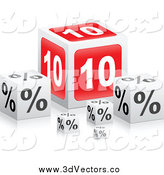 May 23rd, 2014: Vector Clipart of 3d 10 Percent Cubes with Reflections by Andrei Marincas