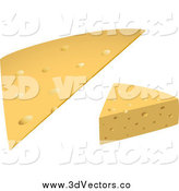 June 19th, 2015: Vector Clipart of 3d Cheeses by Vector Tradition SM