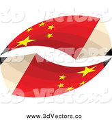 Vector Clipart of 3d Chinese Flag Pencils by Andrei Marincas