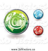 Vector Clipart of 3d Colorful Global Email Icons by Michaeltravers