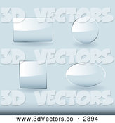 Vector Clipart of 3d Glass Website Buttons by Michaeltravers