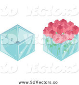 July 26th, 2015: Vector Clipart of 3d Vases and Roses by Melisende Vector