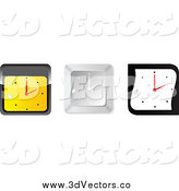 Vector Clipart of 3d Wall Clocks with Droplets by Andrei Marincas