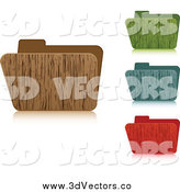 June 4th, 2014: Vector Clipart of 3d Wooden File Folders by Andrei Marincas