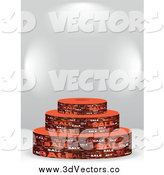 June 13th, 2014: Vector Clipart of a 3d Brown Sale Podium with Text Space by Andrei Marincas