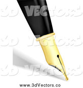 July 30th, 2014: Vector Clipart of a 3d Calligraphy Pen Tip and Shadow by KJ Pargeter