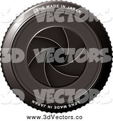 August 10th, 2014: Vector Clipart of a 3d Camera Lens Shutter by Michaeltravers
