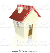 Vector Clipart of a 3d Cottage House by AtStockIllustration
