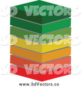 February 5th, 2014: Vector Clipart of a 3d Energy Class Ratings Block Stack by Andrei Marincas