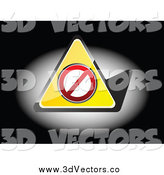 June 27th, 2014: Vector Clipart of a 3d Forbidden Triangle in the Spotlight on Black by Andrei Marincas