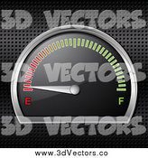 Vector Clipart of a 3d Gasoline Gauge Shown Empty by Elaineitalia