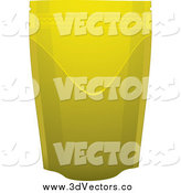 Vector Clipart of a 3d Gold Foil Pouch by Michaeltravers