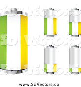 Vector Clipart of a 3d Ireland Flag Batteries Showing Different Charge Levels by Andrei Marincas