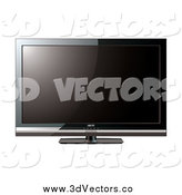 January 14th, 2014: Vector Clipart of a 3d Lcd Television by Michaeltravers
