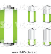 Vector Clipart of a 3d Nigerian Flag Batteries by Andrei Marincas