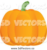 Vector Clipart of a 3d Orange Pumpkin by Pams Clipart