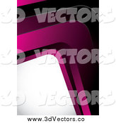 March 27th, 2014: Vector Clipart of a 3d Pink Curving Corner and White Space by MilsiArt