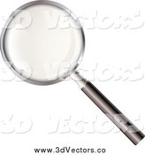 Vector Clipart of a 3d Search Magnifying Glass by Michaeltravers