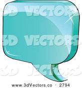 Vector Clipart of a 3d Shiny Blue Chat Balloon by Vector Tradition SM