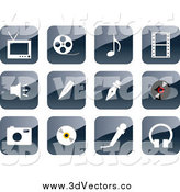 Vector Clipart of a 3d Shiny Website Icons by Vector Tradition SM