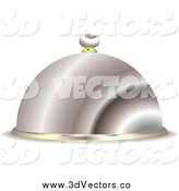 May 22nd, 2015: Vector Clipart of a 3d Silver Serving Cloche by Michaeltravers