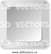 Vector Clipart of a 3d Square Silver Keyboard Button by Andrei Marincas