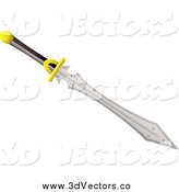 May 9th, 2014: Vector Clipart of a 3d Sword by Michaeltravers