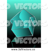 May 18th, 2014: Vector Clipart of a 3d Teal Arrow Pointing Upwards by MilsiArt