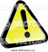 July 3rd, 2014: Vector Clipart of a 3d Warning Sign by Vector Tradition SM