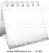 October 25th, 2015: Vector Clipart of a 3d White Desk Calendar by Michaeltravers