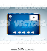 Vector Clipart of a Blue Media Player Compass and Map Website Template by Michaeltravers
